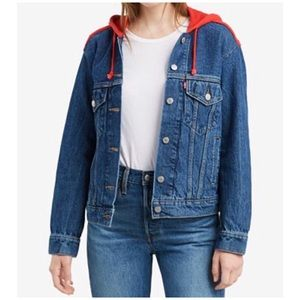 Levi's Ex-Boyfriend hooded Trucker Jacket